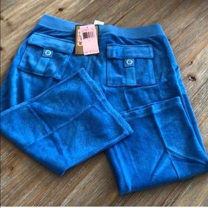 Juicy Couture terry capris  Blueberry tart